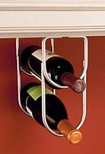 Under counter wine bottle holder