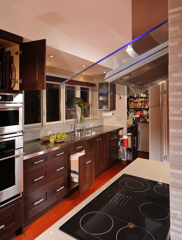 Kitchen with cabinet accessories