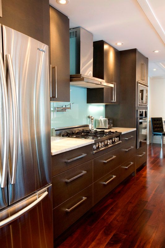 Modern cabinetry with stainless steel appliances